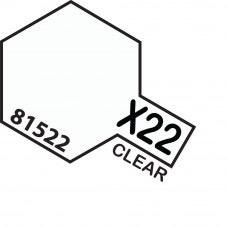 Paint Tamiya Color Mini Acrilic Paint X-22 Clear.