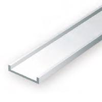 Static Models EVERGREEN 268 35cm Plastic Channel .312 (Pack 3)