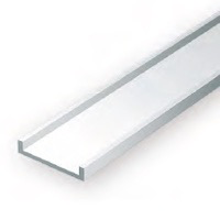 Static Models EVERGREEN 265 35cm Plastic Channel .156 (Pack 4)