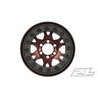 Wheels Proline Pro Forge 1.9 Bronze Anodized Alum. Black Bead Loc 6 Lug Crawler Wheel 2Pcs