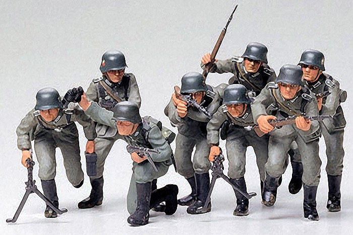 Plastic Kits Tamiya German Assault Troops Kit - CA130 1/35 Scale