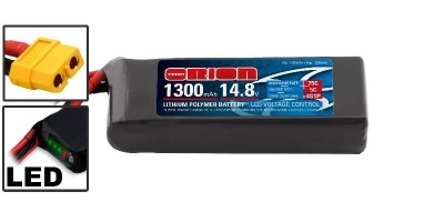 Battery LiPo Team Orion 14.8V 1300MAH 75C (XT60) - Drone Lipo