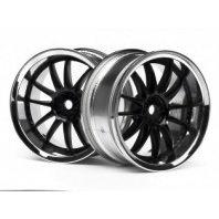 Wheels HPI Work XSA 02C Wheel 26mm Chrome/Black (3mm Offset)