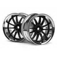 Wheels HPI Work XSA 02C Wheel 26mm Chrome/Black (6mm Offset)