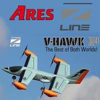 Aircraft Electric ARES V-Hawk x 4 RTF With Radio And Lipo, Needs Charger