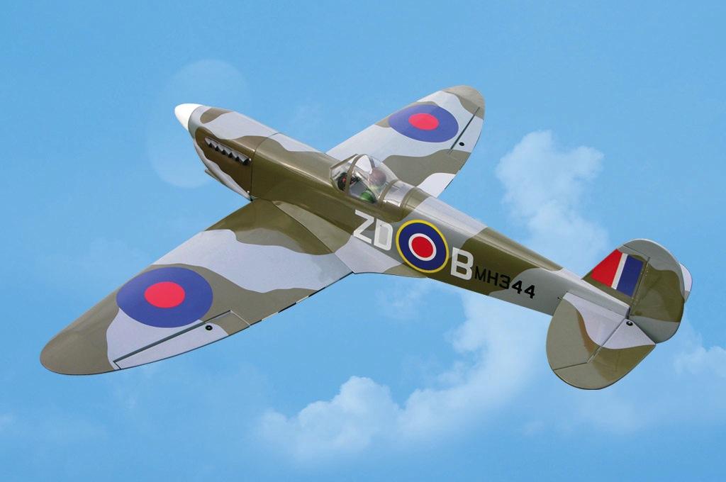 Aircraft Glow Black Horse Spitfire 40/46 ARF Glow/EP