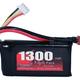 Battery LiPo Redback Lipo Battery 11.1V 1300MAH 25C, Flight