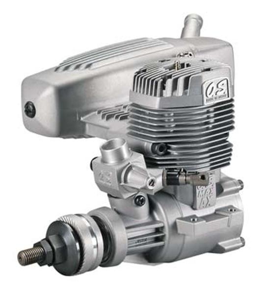 Engine Air 2S OS Engines MAX 75AX Nitro Aircraft Engine, .75 Size w/ E-4040 Silencer