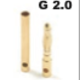 General Gforce 2mm Gold Connector, Male + Female (3pairs)