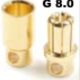 General Gforce 8mm Gold Connector, Male + Female (4pairs)