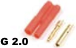 General Gforce 2mm Gold Connector, w/Plastic Housing (4pc)