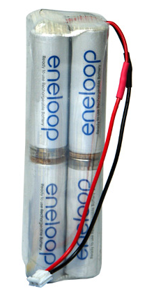 Battery NiMh MI Tx Battery Eneloop 2000mA 9.6V Square CE-S (JR) Con