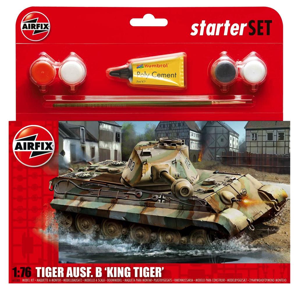 Plastic Kits Airfix PZKW VI Ausf.B King Tiger Tank Starter Set 1:76