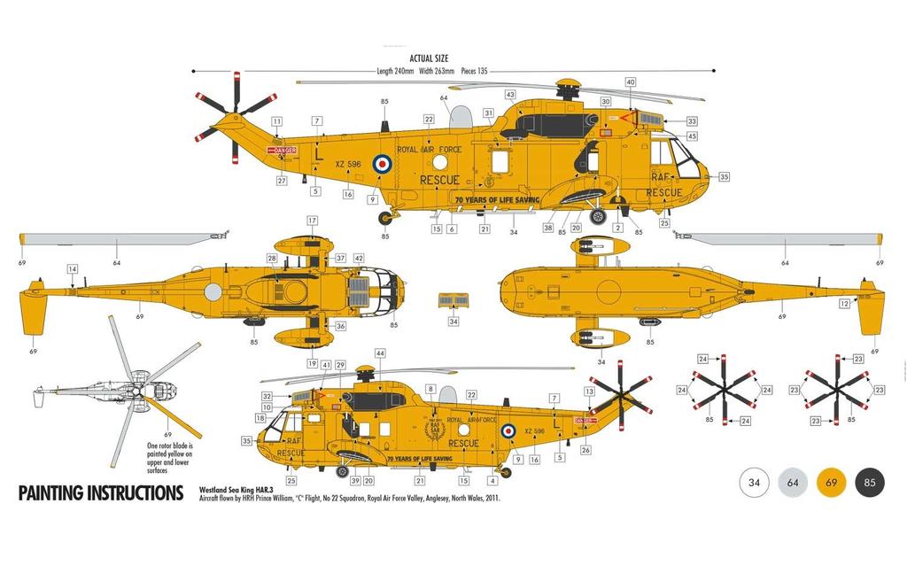Plastic Kits Airfix Westland Sea King HAR.3 Starter Set 1:72