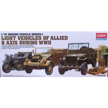 Plastic Kits Academy  1/72 Ground Vehicle Series-1 Plastic Model Kit