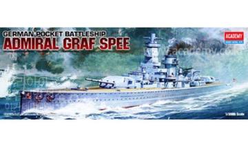 Plastic Kits ACADEMY 1/350 Scale -  German Pocket Battleship Admiral Graf Spee Plastic Model Kit