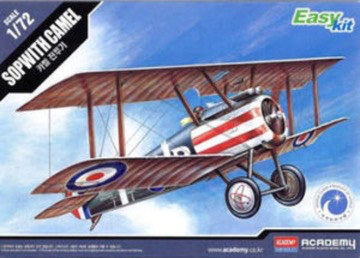 Plastic Kits ACADEMY 1/72 Scale -  Sopwith Camel WWI Fighter Plastic Model Kit