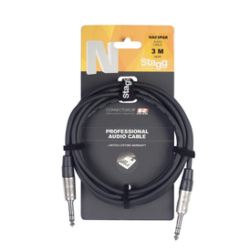 Stagg Stagg N series audio cable, jack/jack (m/m), stereo, 1 m (3')