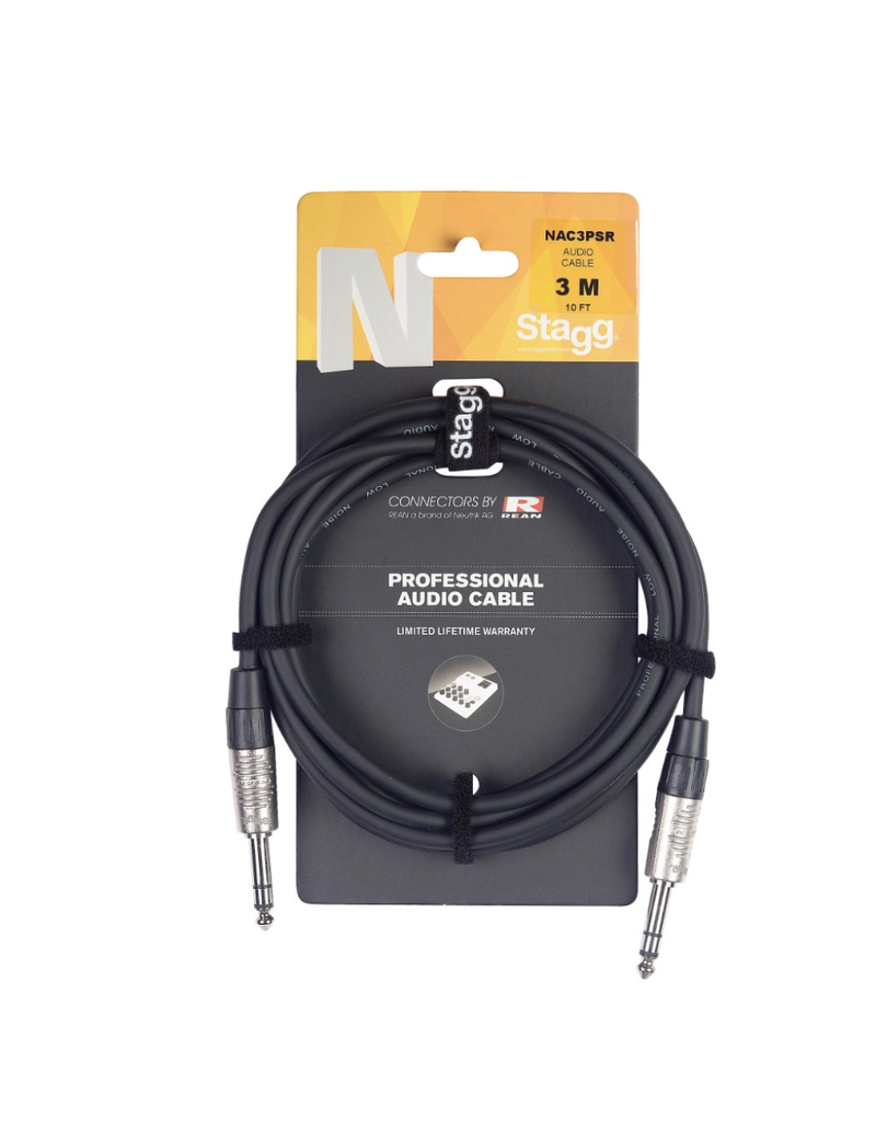 Stagg N series Audio Cable, Jack/Jack, 6 m (20')