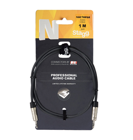 Stagg Stagg N series audio cable, mini jack/mini jack (m/m), stereo, 3 m (10')