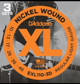 Daddario 3D Pack EXL110 10-46 Reg