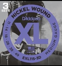 Daddario 3D Pack EXL115 11-49 Med