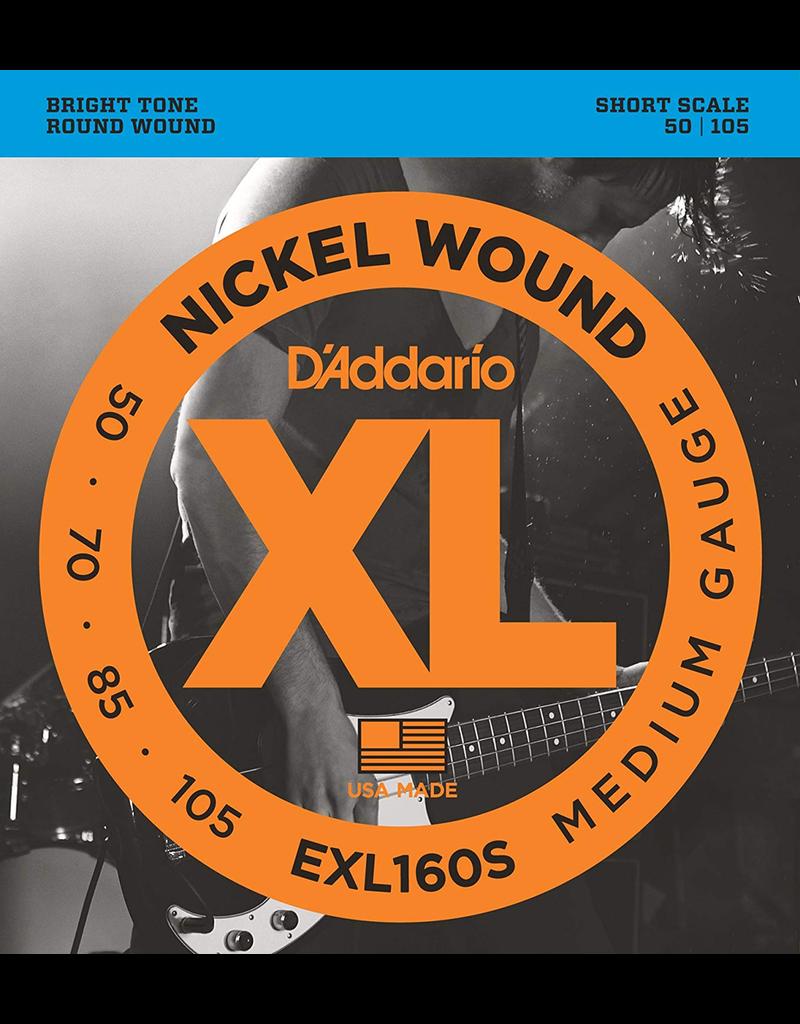 Daddario Bass Short Scale 50-105 Dadd Exl160-S 50-105 Short