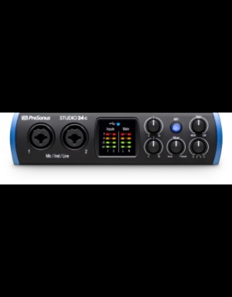 Presonus Studio 24c interface USB-C interface with 2 x XMAX class A preamps