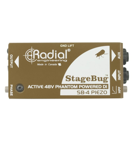 Radial StageBug4 Piezo DI Active Direct Box with HiZ for use without a preamp