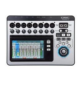 QSC Touchmix 8 digital mixer Touchscreen digital mixer with 8+4 ins/6+2 outs and full DSP. (Inc: Carry case)