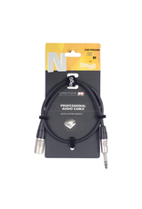 Stagg Stagg N series audio cable, jack/XLR (m/f), stereo, 1 m (3')