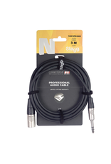 Stagg Stagg N series audio cable, jack/XLR (m/f), stereo, 3 m (10')