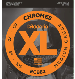 Daddario Chromes 50 to 105 Cb82 Flat Wound Long Scale