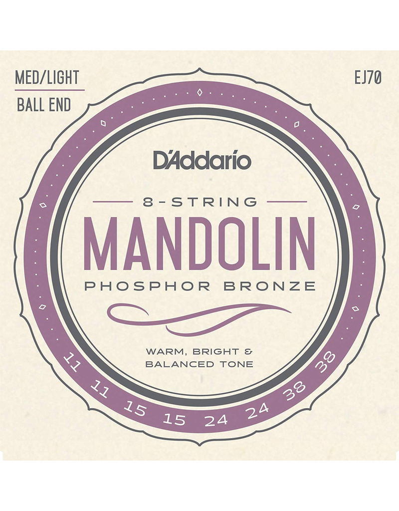 Daddario EJ70 Mandolin Strings 11-38 Medium