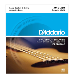 Daddario BassStrings45 to 130 Dadd Epbb170 45-130 Long Scl Acoustic Bass - 5 string