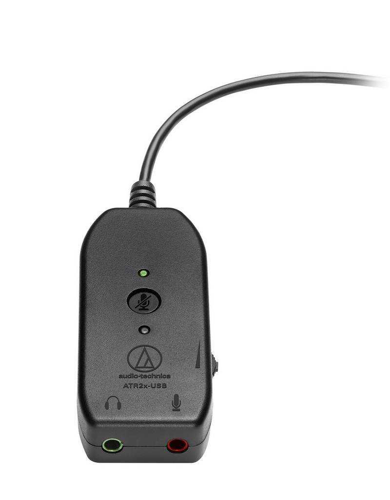 Audio Technica 3.5mm jack to USBC adapter with mic and headphone inputs, mute and volume