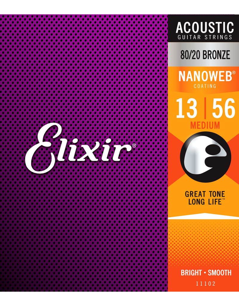 Elixir 11102: Acoustic Nano Medium 13-56