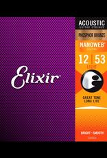 Elixir 12-53 Nanoweb Phosphor Bronze Acoustic Light Elixir 16052