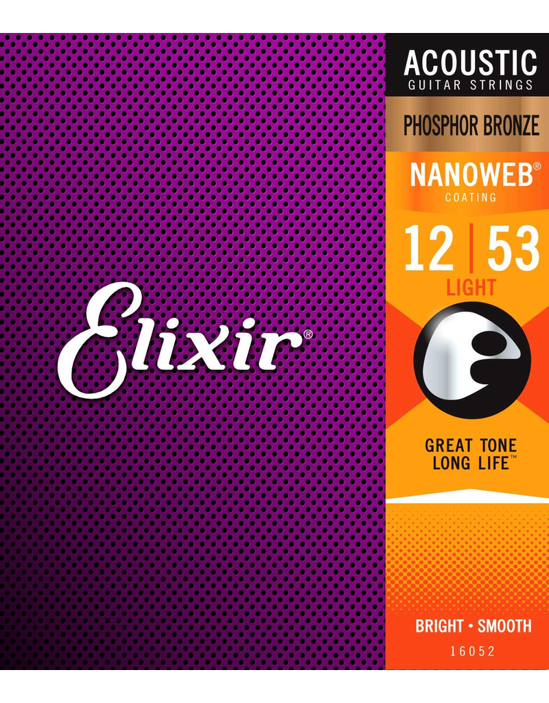 Elixir Acoustic Nano PB - Light Elixir 12-53 Nanoweb - Light Gauge Strings