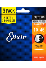 Elixir Nanoweb Electric 10-46 3 Pack Light