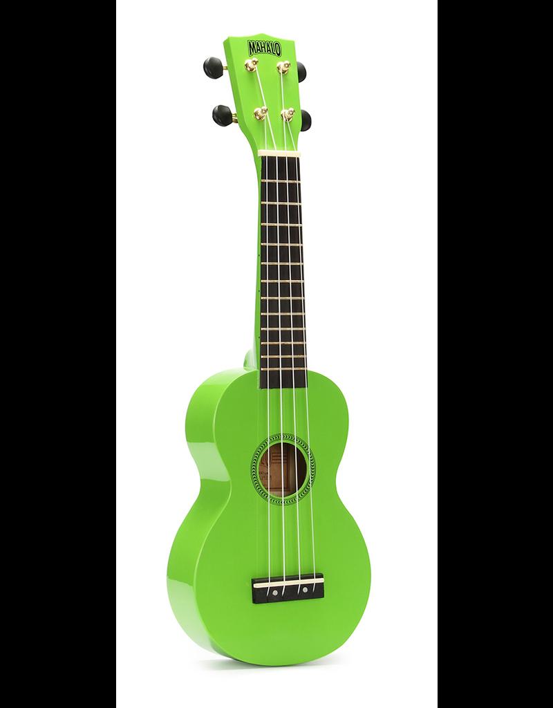 Mahalo Green Soprano Ukulele