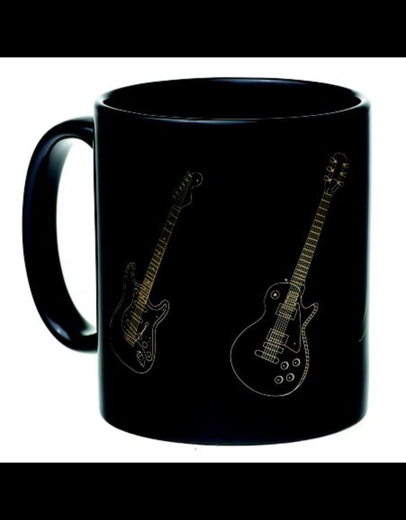 Mug Guitars Black And Gold