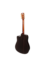 Saga Saga DS20 Solid Spruce Top Acoustic-Electric Dreadnought Cutaway Guitar (Natural Gloss)) inc case