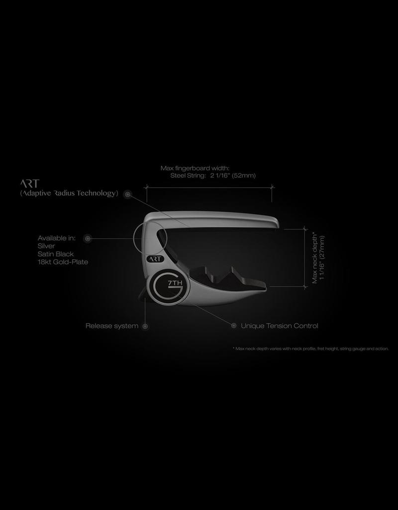 G7 G7th Performance 3 6 String Capo - Black ART (Adaptive Radius Technology)