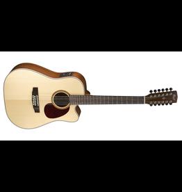 Cort MR710F Dreadnought Cutaway 12 String Guitar Satin Natural Pickup