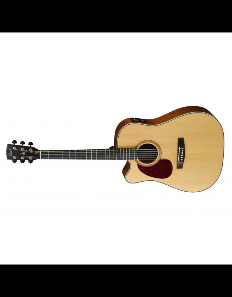 Cort MR710F-LEFTIE Dreadnought Cutaway Guitar Mahogany Back & Sides Satin Natural Pickup