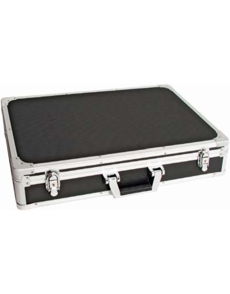 CNB CNB - Pedal road case with removable lid. Black hardshell case with aluminium binding and good catches/handle. Depending on size of pedals fits Wah plus 8 pedals or more! Internal dimensions 70cm (L) x 30cm (W) x 9.5cm (D).