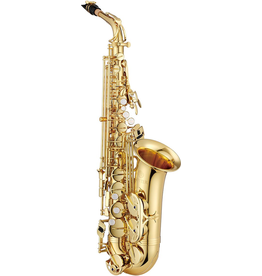 Jupiter Jupiter Alto Sax High F# The Jupiter JAS700 alto saxophone is a beginner instrument with advanced features. It is built to withstand the rigors of student ownership, and has a rich sound. It comes with a mouthpiece, ligature and is keyed to high F#.
