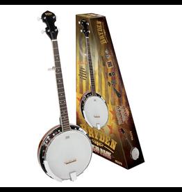 Bryden BRYDEN - 5 String Banjo Pack. Supplied with a Snark WSN5X clip-on chromatic tuner, black carry bag, LM poly strap, Dunlop nickel thumb and finger picks plus a bonus set of Dunlop banjo strings.