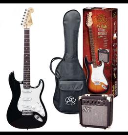 SX ¾ Essex Guitar Package - Black + SX10 amp